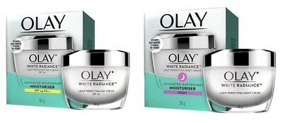 AU60.71 • Buy Olay White Radiance Light Perfecting Whitening Moisturizer Day Night Cream 50 G