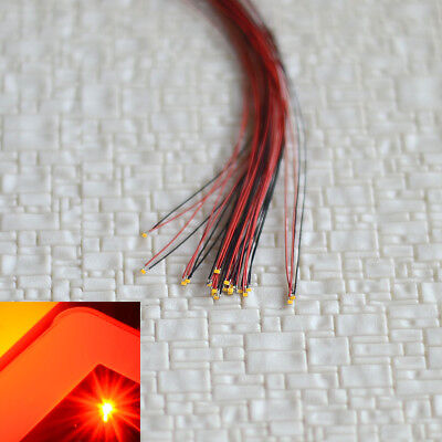 $9.99 • Buy 10 X Pre Wired SMD LEDs #0402 Red Nano Pre-solder​ed Micro Lighting + Resistor