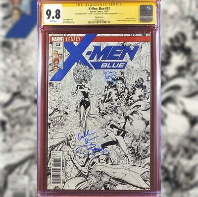 AU159.40 • Buy X-men Blue #13 Sketch Variant Cgc 9.8 Ss 3x Art Adams Cullen Bunn  P Steigerwald