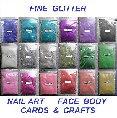 100g - FINE GLITTER - Wedding Glitter Nail Art Cosmetic Face Body Arts & Crafts • 3.48£