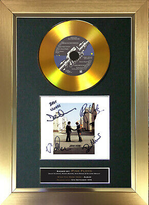£20.99 • Buy GOLD DISC PINK FLOYD Wish You Were Here Signed Autograph Mounted Print A4 151