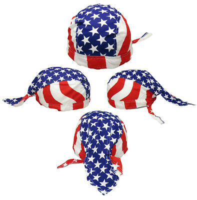 $8.88 • Buy USA Striped With Stars In Middle Printed Do Rag Doo Rag Skull Cap Head Wrap