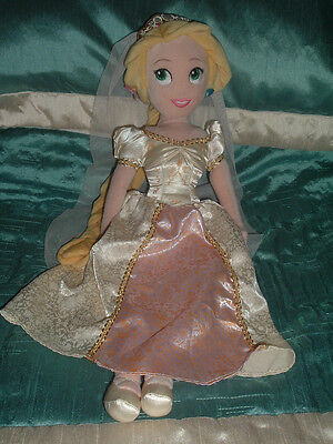 Disney Store Princess Tangled Rapunzel 20  Large Wedding Plush Soft Doll Toy  • 8.54£