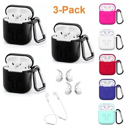 $ CDN7.44 • Buy Airpods Strap Case Hooks Set Silicone Shockproof Protect Cover For Apple Airpods