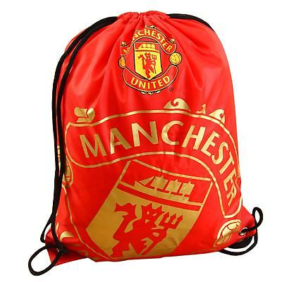 Manchester United F.C.Gym Bag Sports PE School Rucksack Gift • 7.49£