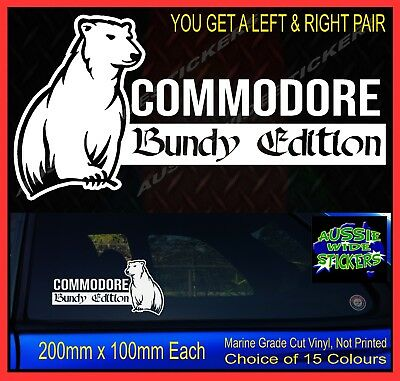 AU12.90 • Buy Funny Stickers For Commodore Ute Car Accessories Decal BUNDY EDITION 200mm PAIR