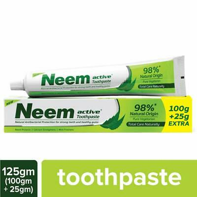 Neem Active Herbal Complete Care Toothpaste 100 Gm + 25 Gm Extra Pack Of 12 • 38.99£