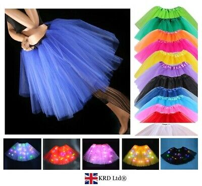 Ladies Girls 3 LAYERS HIGH QUALITY TUTU SKIRT Halloween Fancy Dress Hen Party UK • 6.45£