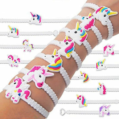 AU2.50 • Buy Unicorn Bracelet X1 Wristband Braclet Birthday Party Lolly Loot Bag Filler