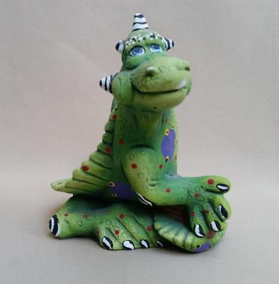 $12.99 • Buy Unusual Green Dragon Figurine - Hand Painted Heavy Ceramic -  7