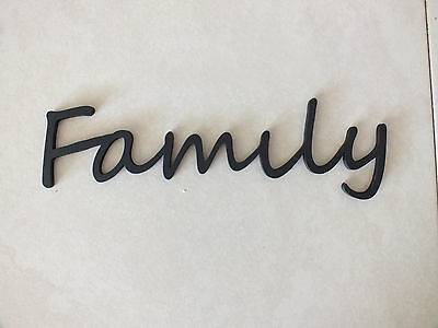 Wooden  Family  Plaque Words Letters Home Door/Wall...  Black Or Unpainted.  • 3.99£