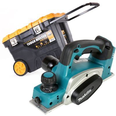 Makita DKP180Z 18V LXT Cordless 82mm Planer With 28'' Tool Box Chest On Wheels • 185£