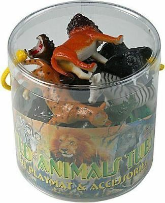Plastic Jungle Zoo Figure Wild Animals Childrens Christmas Toy Party Stocking • 7.89£