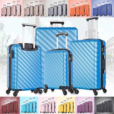 View Details 3 & 4  Piece Hardcase Luggage Set Travel Bag Trolley Spinner Suitcase ABS W/Lock • 109.90$