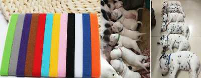 12X Colours Adjustable Newborn Puppy Whelping Pet Kitten ID Collar Band Set • 3.99£