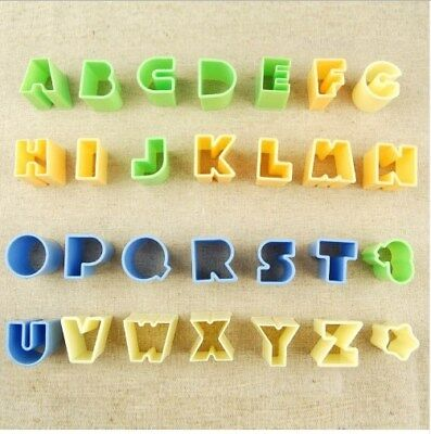 28pcs Letters Shape Cookie Cutter Mold Biscuit Tool Kitchen Cake Decorating UK  • 4.99£