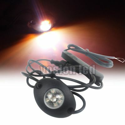 $24.29 • Buy 2.28  6W LED Amber White Hide Away Emergency Patrol Truck Warning Strobe Lights