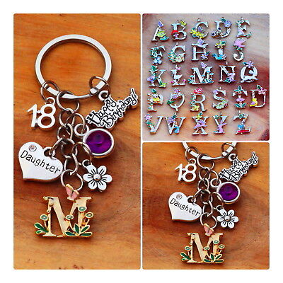 Personalised Birthday Gift Keyring - Mum Daughter Sister -18th 21st 30th 40th • 3.99£