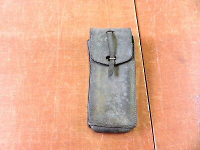 Vintage  French Army Black Leather Ammo Pouch • 8.99£