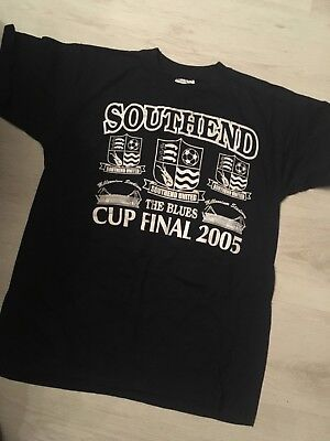 S-m Small/med SOUTHEND UNITED ENGLAND 2005 The Blues CUP FINAL  FOOTBALL SHIRT  • 17.85£