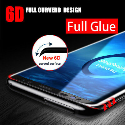 $ CDN6.80 • Buy Full Glue Screen Protector For Samsung Galaxy S8 S9 Plus Note 8 9 Tempered Glass
