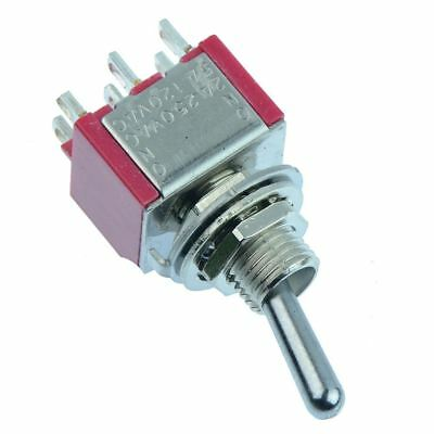 On-On Mini Miniature Toggle Switch DPDT 5A • 1.49£