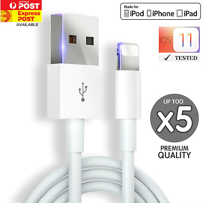 AU3.99 • Buy USB Cable Charger For Apple IPhone 11 X  8 7 6 5 5s Xr Max IPad 1M Charging Cord