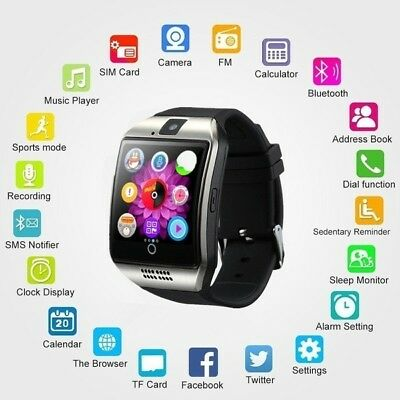 $ CDN29.02 • Buy 2018 Bluetooth Touch Screen Smart Watch Q18 For Android Mobiles&iPhone 3 Color