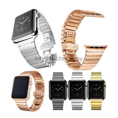 AU34.99 • Buy Butterfly Stainless Steel Link Bracelet For Apple Watch Band Strap SE 6 5 4 3 2
