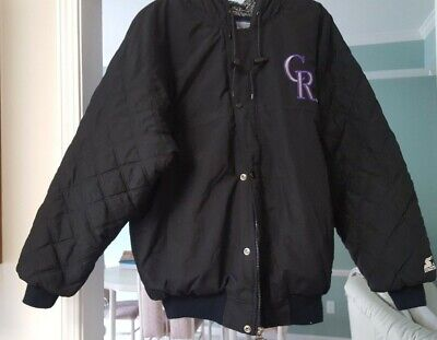 $57.99 • Buy Mens Jacket Colorado Rockies By Starter - Size M - Zipper And Snap Up