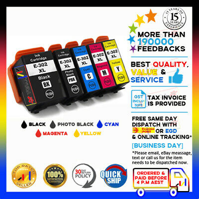 AU46.15 • Buy 5 X NoN-OEM 302XL HY Ink Cartridges For Epson XP6000 XP6100 XP- 6000 XP-6100