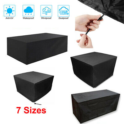Heavy Duty Garden Patio Furniture Table Cover For Rattan Table Cube Set Outdoor • 21.49£