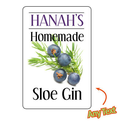 Sloe Gin Bottle Labels Homebrew Wine Homemade Drink Stickers Classy Gloss 1026 • 2.95£