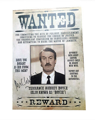 £24.99 • Buy Only Fools And Horses Boycie Wanted Poster Personally SIGNED By John Challis
