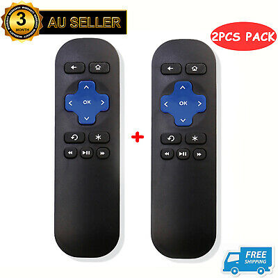 AU17.99 • Buy 2PCS Replacement Remote Control For ROKU 1 2 3 4 Telstra TV 1, Telstra TV 2