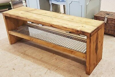 £155 • Buy Vintage/Retro Style Changing/Dressing/Cloak Room Gym Bench Hall Bench Shoe Rack