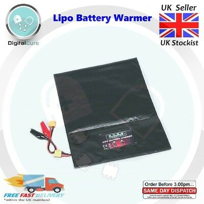 Programmable Lipo Battery Warmer Heater Bag 12V DC XT60 Alligator Clips - DJI • 229.90£