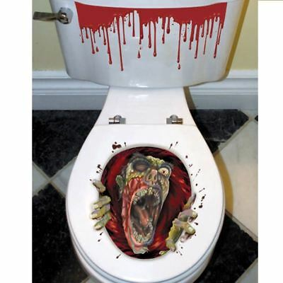 $ CDN4.31 • Buy Halloween Toilet Seat Grabber Cover Scary Zombie Party Bathroom Decoration