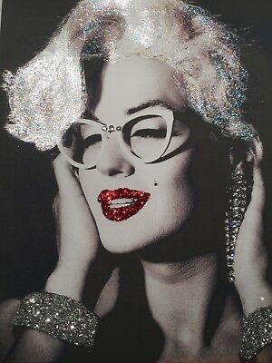 Glitter Marilyn Monroe Picture A4 Print Only NO FRAME With Glitter And Diamantes • 8.85£