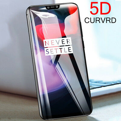 AU2.87 • Buy 3D 5D Curved 9H Full Cover Tempered Glass Screen Protector For OnePlus 6 5T 5