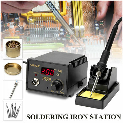 YiHua 937D ESD Soldering Station Solder Iron W/ Extra 5 Tips Stand Kit 230V 45W • 25.99£