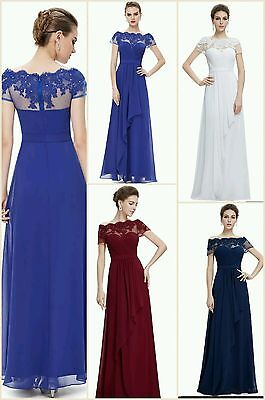 Ever-pretty Bridesmaid Dresses 6 Chiffon Long Evening Party Ball Gown Prom Dress • 24.99£