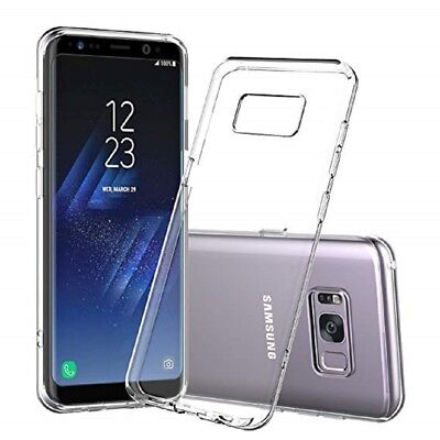 AU5.19 • Buy Samsung Galaxy S8 S8+ S9 S9+ Note 8, 9 Soft Silicon Gel Crystal Clear Back Cover