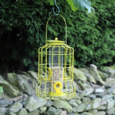 Bird Seed Feeder Squirrel Guard Wire Cage Squirrel Proof Protects Feed Feeding • 8.77£
