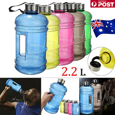 AU12.34 • Buy 2.2L Large Water Bottle Cap Big Drink Kettle BPA Free Sport Training Workout Gym