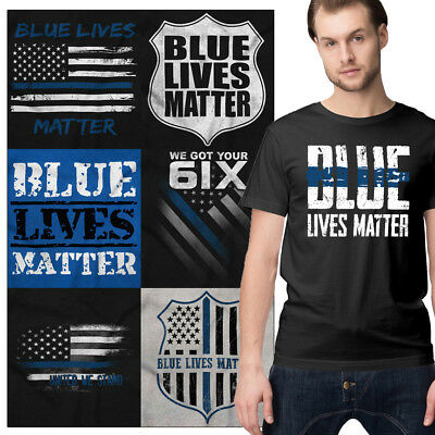 $12.99 • Buy Support Blue Tee Shirt Police Graphic T-Shirt For Men Women Cop Tees Shirts Gift