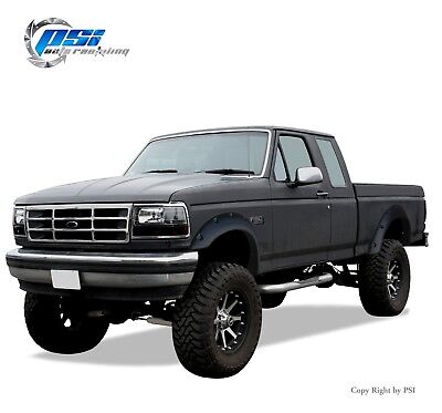 AU317.56 • Buy Black Textured Pocket Bolt Fender Flares 92-96 Ford F-150 F-250 F-350 Bronco
