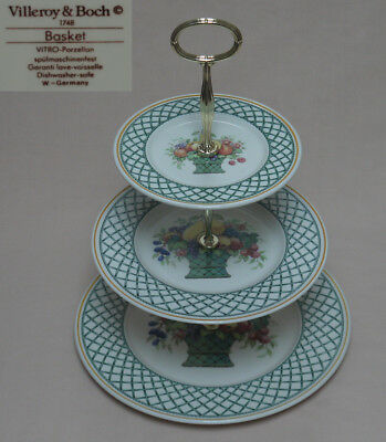 Villeroy & Boch  Basket  THREE TIER CAKE STAND • 102£