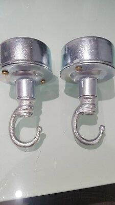 2 X Industrial Ceiling Rose/Hook Galvanised Conduit Cable Lamp Fitting Retro  • 16£