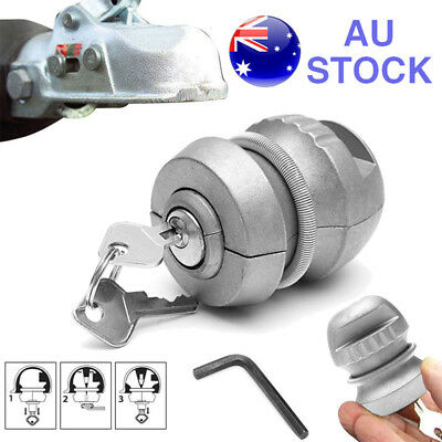 AU20.98 • Buy Insertable Trailer Coupling Hitch Lock Tow Ball Caravan For Security 50mm